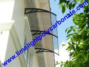 Polycarbonate DIY Awning, Door Roof Canopy, DIY Awning