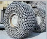 Forklift truck tyre protection chain