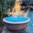 青い火ピットガラス