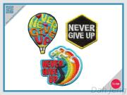 Never Give Up-Embroidery Sticker Pack