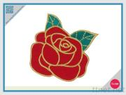 Embroidered Rose Patch