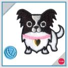 Ricamo con l'autoadesivo del Rhinestone regolato - chihuahua del cane con filato