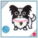 Bordado con la etiqueta engomada del Rhinestone fijada - chihuahua del perro con hilado