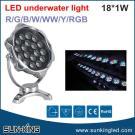 Contemporary Fashionable DMX512 Control 12V/24V 12W Underwater Led Pool Lighting RGB