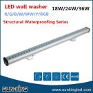 Energy Conservation 100Cm Ip65 Rgb/Blue/Green Led Building Decorative Lighting Wall Washer 24W