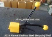 A333 Manual Sealless Combination Hand Steel Strapping Tool