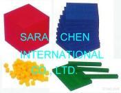 Base Ten Blocks Set, 4 Colors