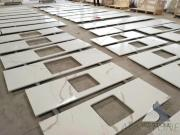 Carrara White Quartz Kitchentop