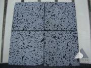 Black basalt tile Lava stone Mediuml Holes