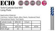 End Mill, Four Flutes -Long Flute