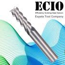 End Mills For Aluminium Alloy Processing,3 Flutes-Standard Length