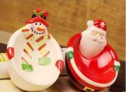 Ceramic Snowman Santa Claus Dish