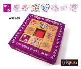 Glücklicher Valentinsgruß hölzernes Stamps+Ink
