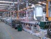PP Hollow Profile Sheet Extrusion Line, PP Hollow Profile Sheet Extrusion Machine