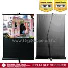 Slide Air-Pressure Floor Pull Up Standing Projection Screen