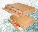 Drawers Wood Pastel Box