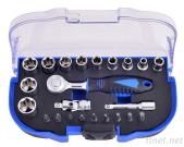 23Pcs 1/4'Dr. 60T Super Lock Socket Wrench And Bit Set