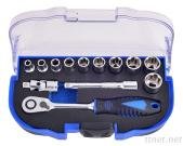 13Pcs 1/4'Dr. 60T Super Lock Socket Wrench Set