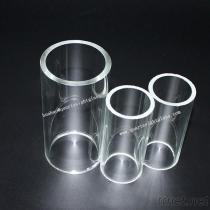 明確で大きい直径の透明なガラス管