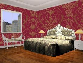 Carta da parati di lusso della camera da letto cina for Carta da parati di lusso