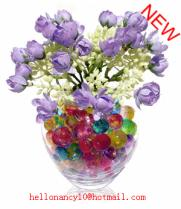 Water beads colorful flower soil office decor