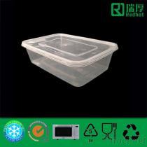 Contenitore di plastica 650Ml del pranzo di Microwaveable