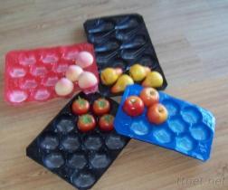 Vassoio a gettare di plastica della verdura e della frutta