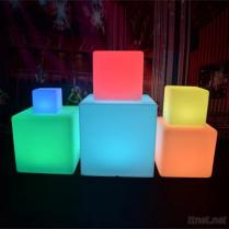 WiFi Controlled 10~80Cm LED Light Plastic Cube