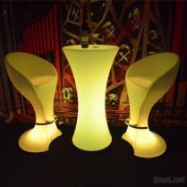 使用されたLED棒テーブルおよび椅子棒家具を変える色
