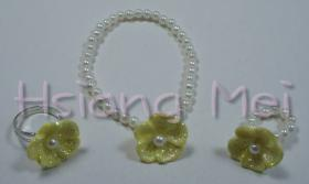 Yellow Flower Bracelet / Rings