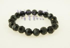 Black Angle Beads Bracelet