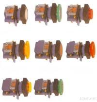Belichteter quadratischer Druckknöpfe Schalter