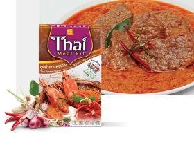 타이 음식 - Panang 타이 카레가루를 요리하기 위하여 준비하십시오
