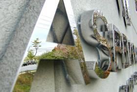 製造されたステンレス鋼3Dのロゴの印