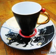 Handmade Porcelain Ceramic Cup and Saucer