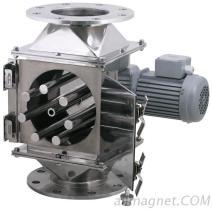 回転式火格子の磁気分離器