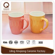 Tasse de café en céramique de double silicone de mur avec le couvercle