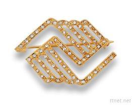 Broche de diamant