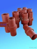 Isolierende Verbindung der Erdgasleitung