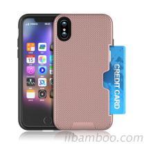 Het Geval Iphone 8 van de telefoon de Daling van het Geval Bestand Perfecte Hand die het Duurzame Geval van de Groef van de Kaart voelen