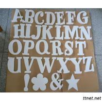 Hölzernes Buchstabe-Holz-Alphabet