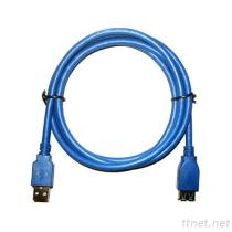 2-9 USB 3.0 Cable Am/Af (Round)