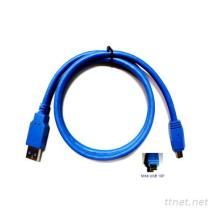 2-6 (둥근) USB 3.0 케이블 Am/Mini 10P