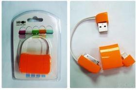 Orange USB A male & I-PHONE