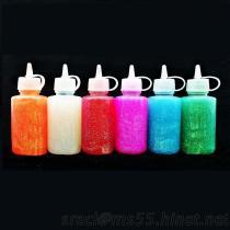 虹のきらめきの接着剤