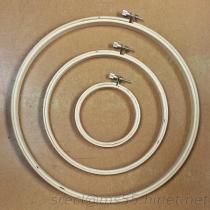 Cercle de broderie, cercle en bois, cercle en travers de point, armature de broderie