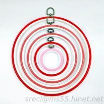 Cercle de broderie, cercle en plastique, cercle en travers de point, armature de broderie