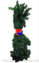 クリスマスの花輪、Xmasの人工的な花輪