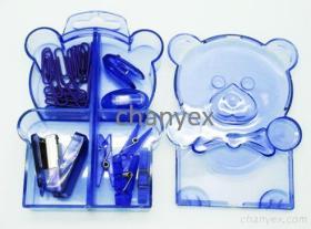 Kit de papeterie - ours (indigo)