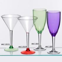 Vetri acrilici di vino & del Martini